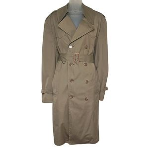 NEW |London Fog Belted Detachable Lining Trench Coat Size Large